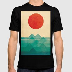 The ocean, the sea, the wave Mens Fitted Tee Black MEDIUM