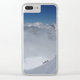 Alpine Mountain Climbers Clear iPhone Case