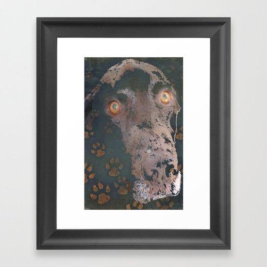 leaving his print Framed Art Print