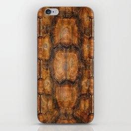 Brown Patterned  Organic Textured Turtle Shell  Design iPhone Skin