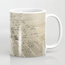 Vintage Pictorial Map of McKinney Texas (1876) Coffee Mug