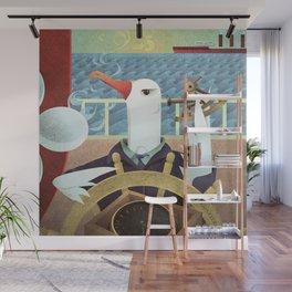 A-Z Animal, Albatross Quartermaster - Illustration Wall Mural