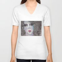 water color V-neck T-shirts featuring WATER COLOR by TKB3