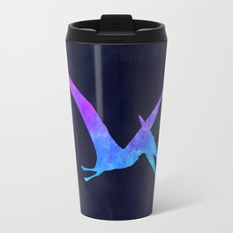 PTERODACTYL IN SPACE // Dinosaur Graphic Art // Watercolor Canvas Painting // Modern Minimal Cute Travel Mug