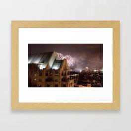 Fireworks Over Copley Framed Art Print