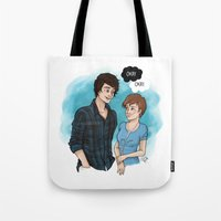 fault Tote Bags featuring The Fault In Our Stars by Laia™