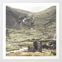 castle in the sky Art Prints featuring castle by ©YU by Jaesindesign