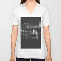 liverpool V-neck T-shirts featuring The Liverpool River. by Rory-Mackenzie