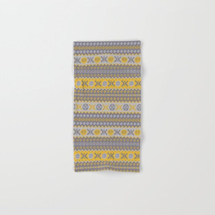 Granny's Fairisle - Honey Yellow Hand & Bath Towel