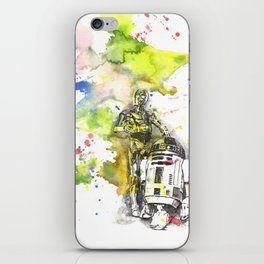 C3PO and R2D2 from Star Wars iPhone Skin