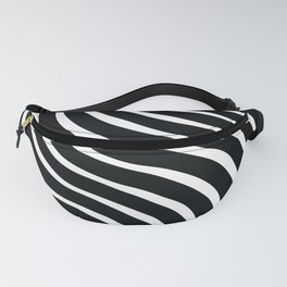 Abstract Waves illusion Pattern - Zebra Fanny Pack