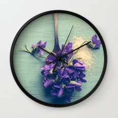 Sweet Violets Wall Clock
