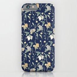 Spring Garden - navy blue iPhone Case