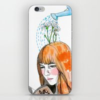 reading iPhone & iPod Skins featuring Reading by Andrea Méndez