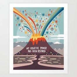 My creative power Art Print
