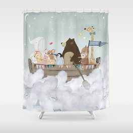 cloud sailers Shower Curtain