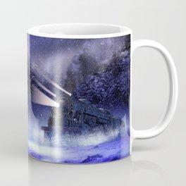 Snowy Night Train Coffee Mug