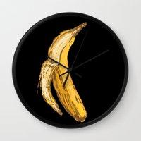 banana Wall Clocks featuring Banana by Ken Coleman