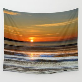 Silver and Gold Sunset Wall Tapestry
