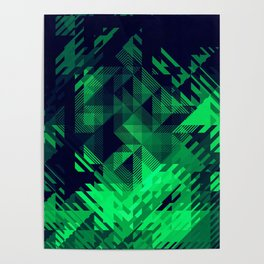 Green Screen Abstract Design Poster