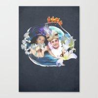aladdin Canvas Prints featuring Aladdin & Jasmine by FarbCafé