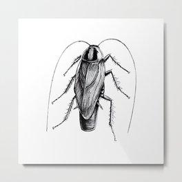 Cockroach Pen Art Drawing Metal Print