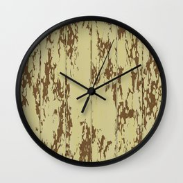 Weathered Wood Paneling 01 Wall Clock