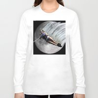 ski Long Sleeve T-shirts featuring Moon Ski by AF Knott