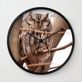 Wild Owl - Ivins, Utah Wall Clock