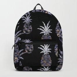 Vintage Hawaiian Pineapple Print Backpack