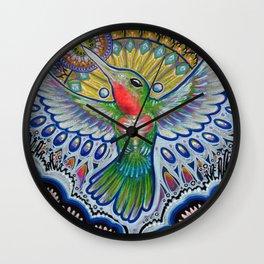 Hummingbird & Cactus - Beija Flor III Wall Clock