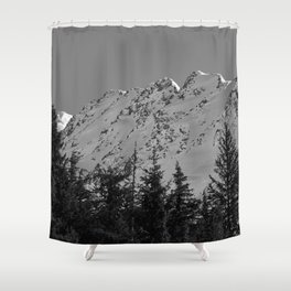 Gwin's Winter Vista - B & W Shower Curtain