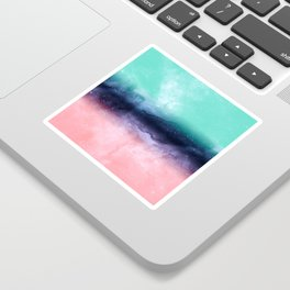 Modern watercolor abstract paint Sticker