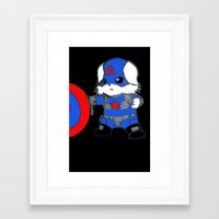 avenger Framed Art Prints featuring Avenger Dog by Rocky Moose