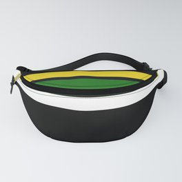 TEAM COLORS 2... green, yellow Fanny Pack