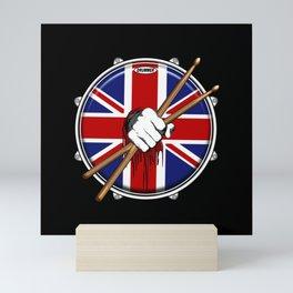 Brit Fist Drummer Mini Art Print