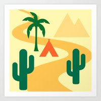 camping Art Prints featuring Camping by Mr & Mrs Quirynen
