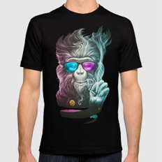 Smoky Mens Fitted Tee Black MEDIUM