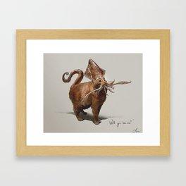 Squitten Framed Art Print