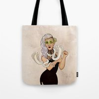 hayley williams Tote Bags featuring Hayley Jane by Sweet Peach Tea