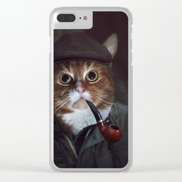Holmes the Cat Clear iPhone Case
