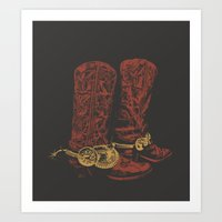 cowboy Art Prints featuring COWBOY by GCGC