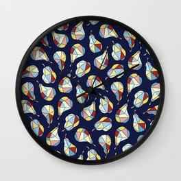 Pear Diamonds Wall Clock