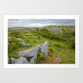 Cloudy Poulnabrone Landscape Art Print