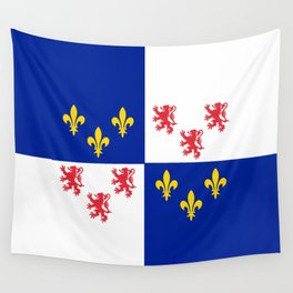 historic flag of picardie Wall Tapestry