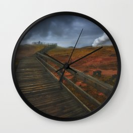 Wooden Path Wall Clock
