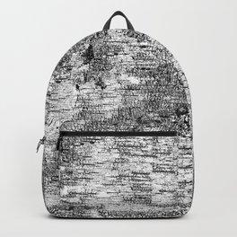 Birch Bark Print Black and White Backpack