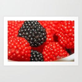 Rasberry Gummy Candy Art Print