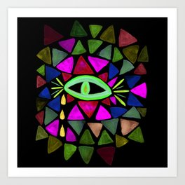 Crystaleyes 5 Art Print