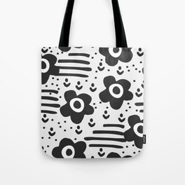 Abstract with flowers Tote Bag